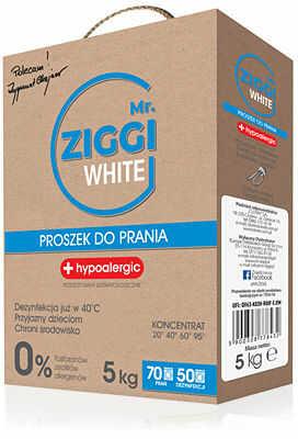 Mr. Ziggi Hipoalergiczny proszek do prania Do białych tkanin 5 kg