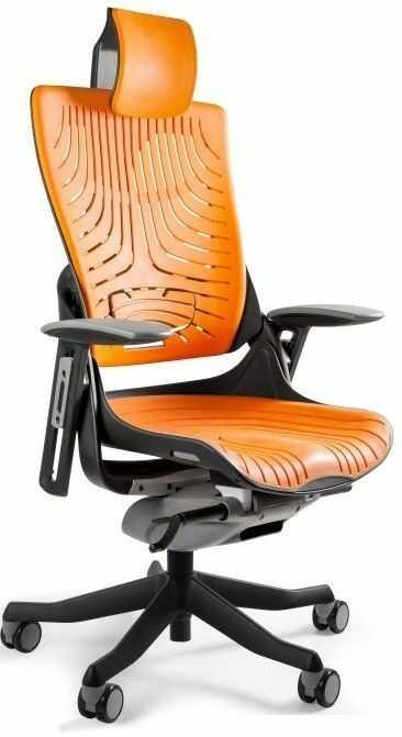 Fotel biurowy WAU2 czarny/elastomer tpe-12 mango