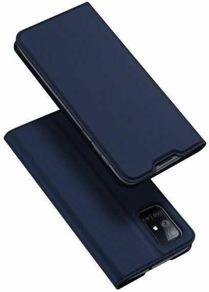 DUX DUCIS Skin Pro kabura etui pokrowiec z klapką Samsung Galaxy M51 niebieski