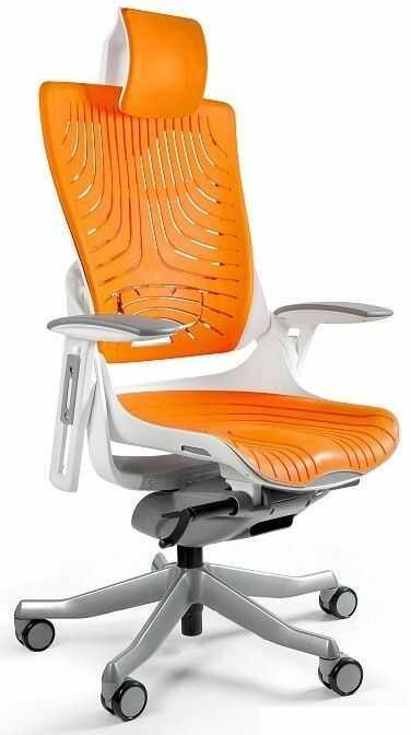 Fotel biurowy WAU 2 biały/elastomer tpe-12 mango