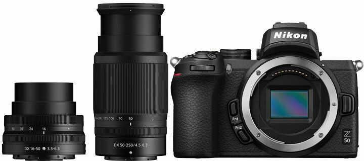 Nikon Z50 + Nikkor Z 16-50 mm f/3.5-6.3 VR DX + Nikkor Z 50-250 mm f/4.5-6.3 VR DX