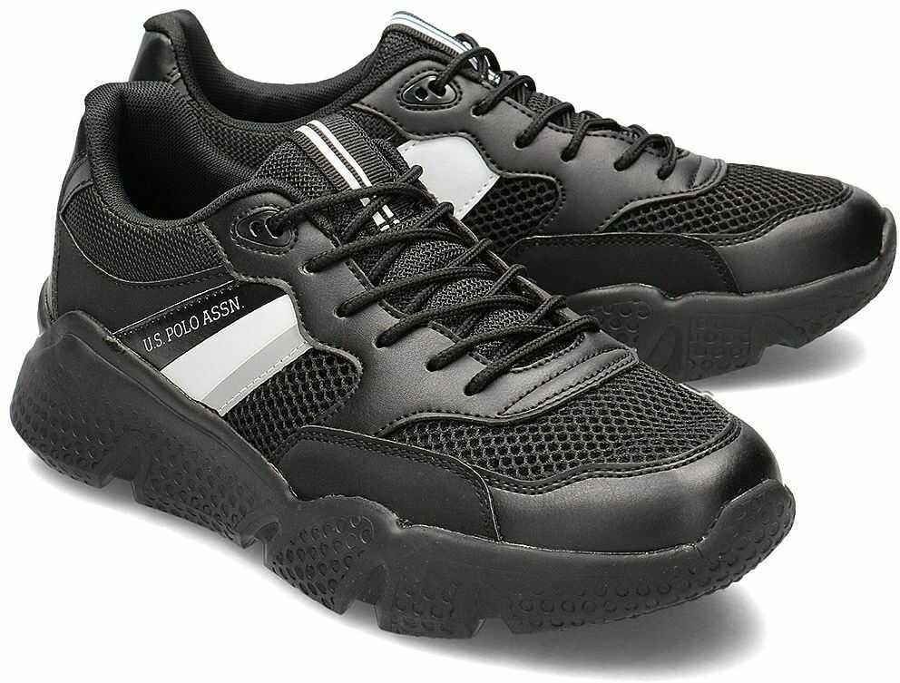 U.S. Polo Assn Ermes - Sneakersy Męskie - BOND4113S0/YM1 BLK - Czarny