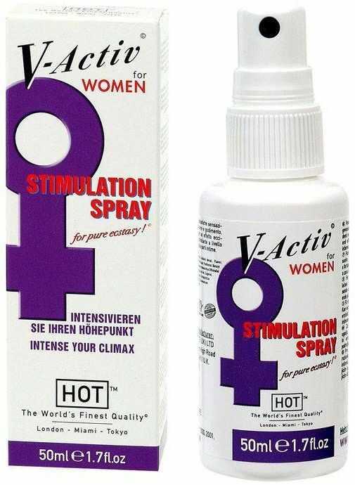 Spray Stymulujacy Orgazm dla Kobiet V-Activ Stimulation 50ml 100% DYSKRECJI BEZPIECZNE ZAKUPY