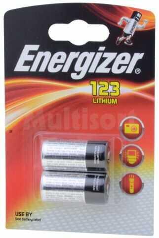 Bateria litowa ENERGIZER 3V CR123A, R123 PHOTO 2szt. fi17x34,2mm