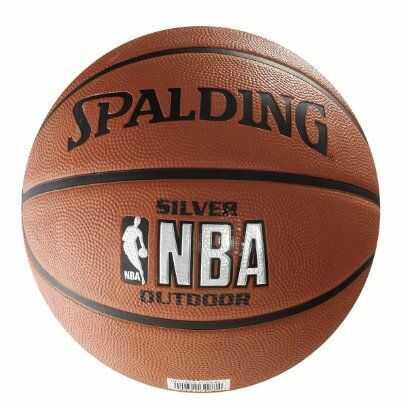 Piłka do koszykówki Spalding NBA SILVER out