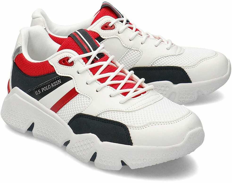 U.S. Polo Assn Ermes - Sneakersy Męskie - BOND4113S0/YM1 WHI-DKBL - Biały