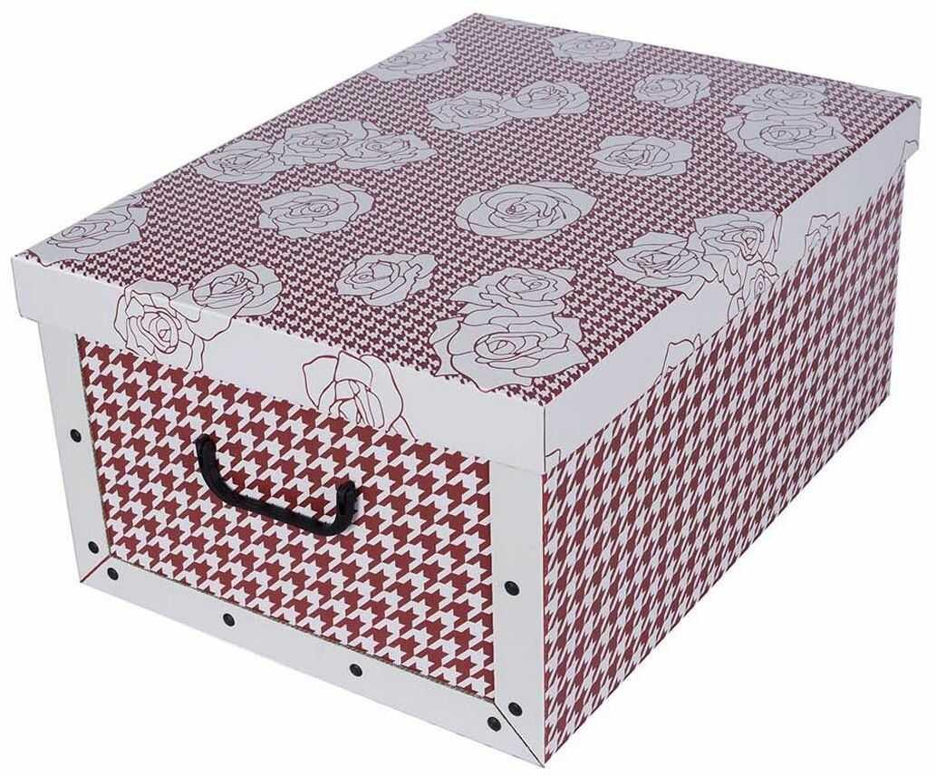 Pudełko kartonowe MAXI PEPITKA - BRĄZ W RÓŻE