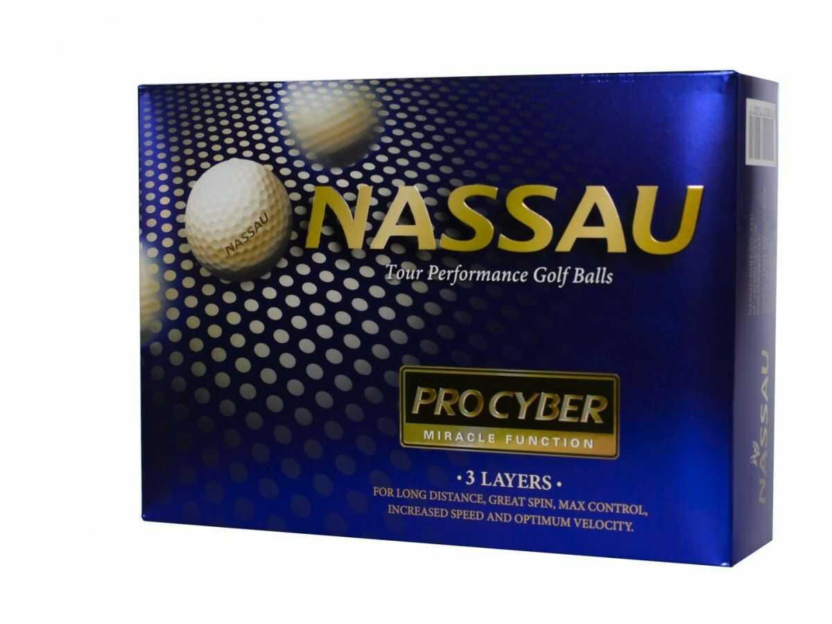 Piłki golfowe NASSAU PRO CYBER (białe)