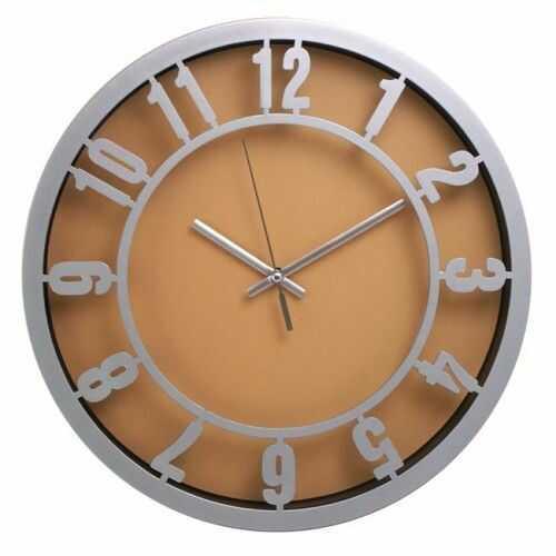 Zegar ścienny arabic srebrny/zielony