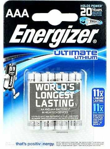 Bateria litowa ENERGIZER 1,5V AAA ULTIMATE LITHIUM 4szt. 1200mAh