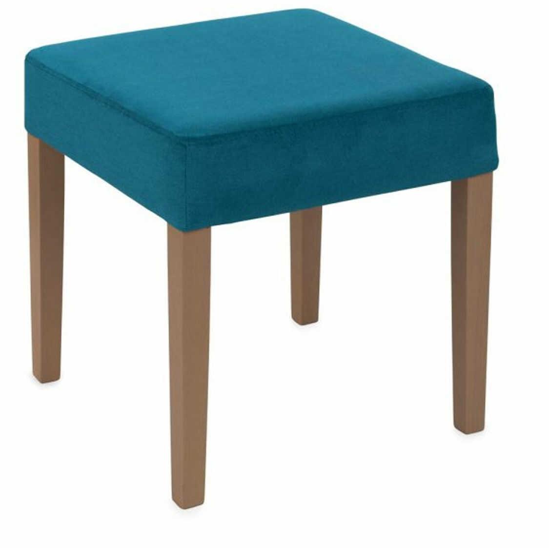 Pufa Simple 45x45, prosta, wygodna, lekka, kwadratowa, tapicerowana, do toaletki, do hotelu, do korytarza, do lobby