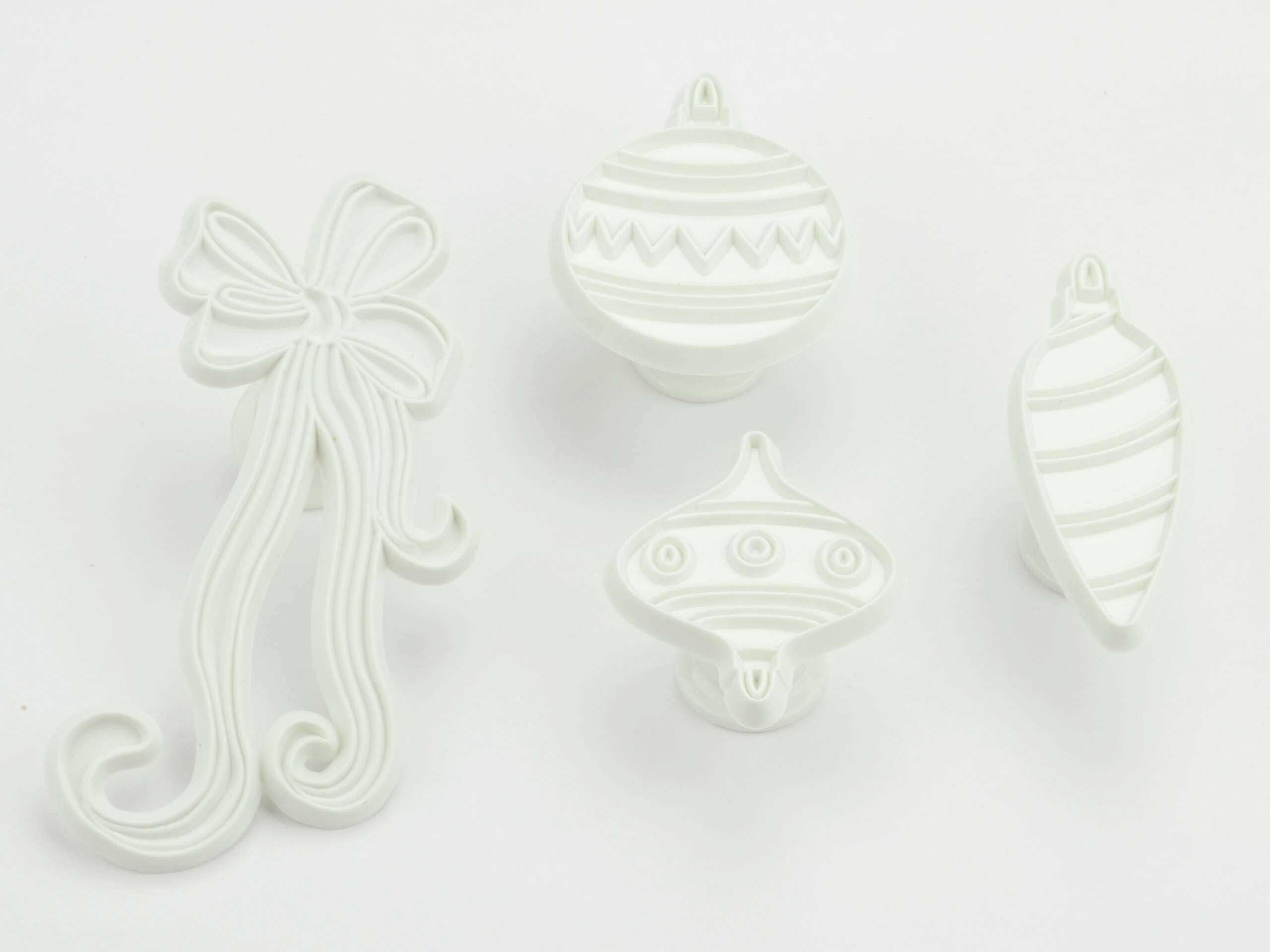 Pati-Versand 11498 zestaw foremek do wycinania ozdób choinkowych 4-częściowy do dekoracji marcepanu i cukru
