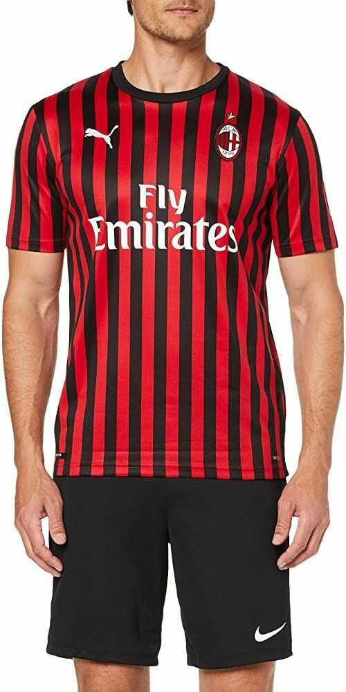 Puma Męska koszulka AC Milan 1899 repl. T-shirt z nadrukiem Romagnoli, Tango czerwony czarny, S