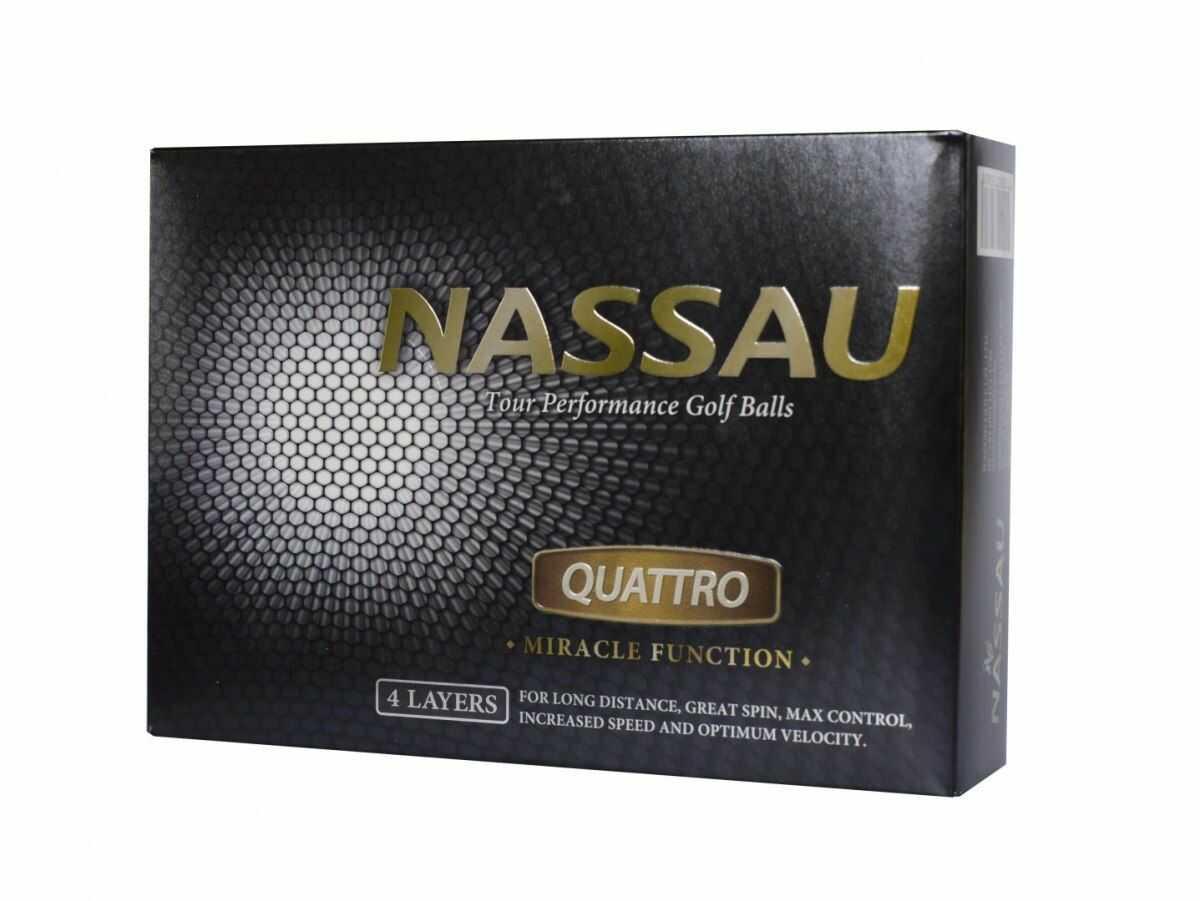 Piłki golfowe NASSAU QUATTRO (białe)
