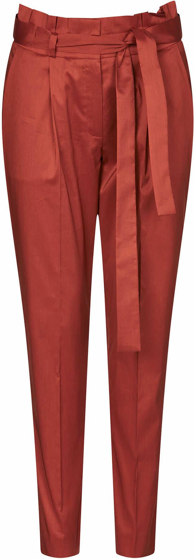 Tkaninowe spodnie paperbag