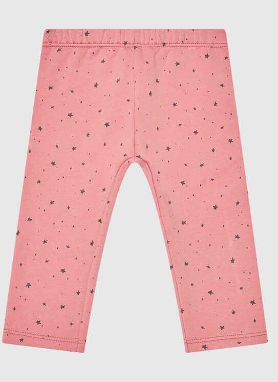 Legginsy 3QEVI0509 Różowy Slim Fit
