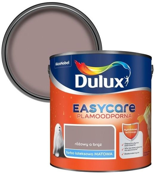 Farba Dulux EasyCare różowy a brąz 2,5 l