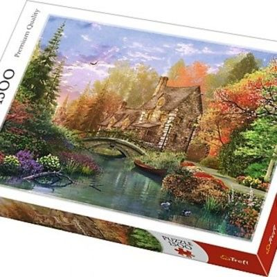 Puzzle TREFL 1500 - Chatka nad jeziorem, Cottage by the lake