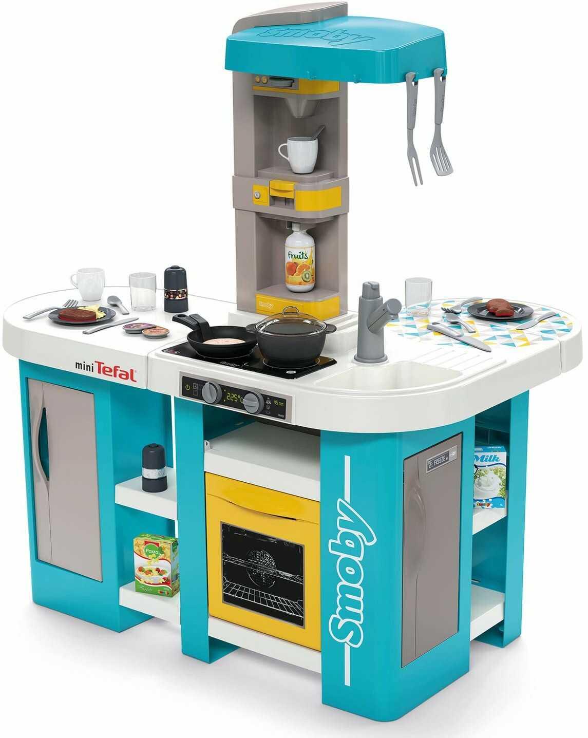 Smoby 7600311045 Tefal Studio Kuchnia XL Bańka, niebieski