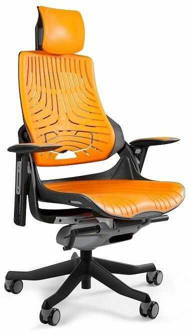Fotel biurowy WAU czarny/elastomer TPE-12 MANGO