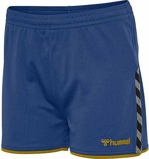 Hummel damska bluza z krótkim rękawem, True Blue/Sports Yellow, XS