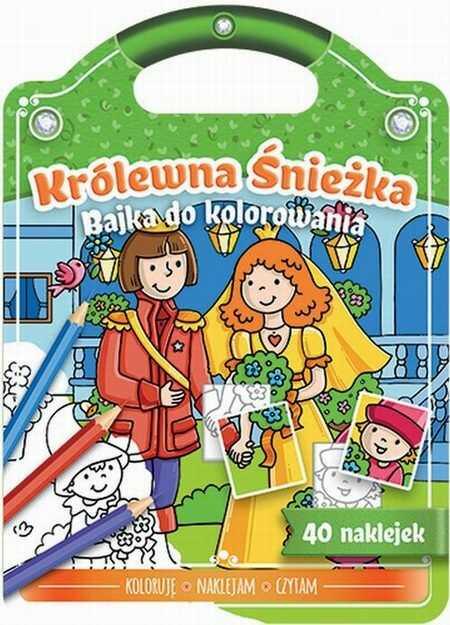 Bajka do kolorowania Królewna Śnieżka