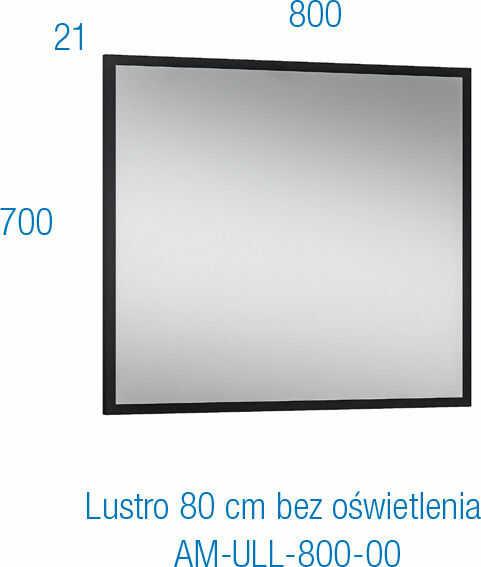 ASTOR Lustro MODUS 80 cm - ZNALAZŁEŚ TANIEJ? ZADZWOŃ 726 713 313
