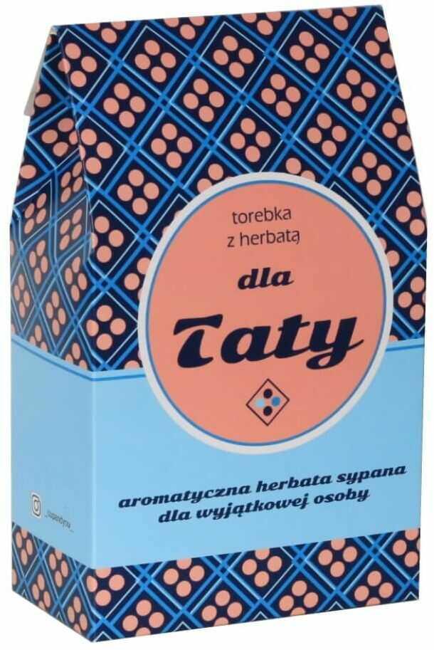 Torebka z herbatą dla Taty - prezent upominek 10 herbat smakowych na Dzień Ojca 9x5g, 1x8g