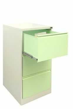 Metalowa szafa na kartoteki SZK 3a3 do biura z trzema szufladowa
