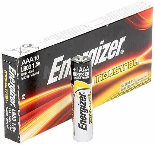 Bateria alkaliczna 1,5V ENERGIZER AAA, R3 Industrial 10szt.