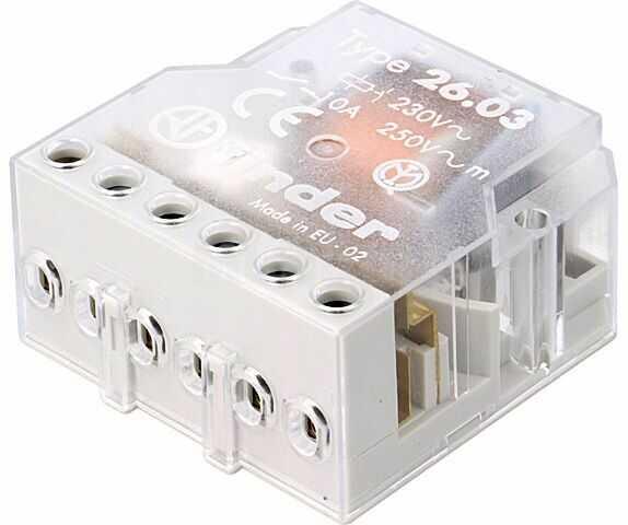 Przekaźnik instalacyjny FINDER bistabilny 3PST-NO + SPST-NC 10A
