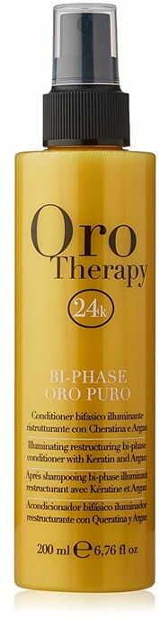 Fanola Oro Therapy Puro Bi-Phase spray wzmacnia rozświetla włosy 200ml