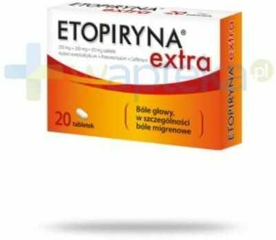 Etopiryna Extra 250 mg + 200 mg + 50 mg 20 tabletek