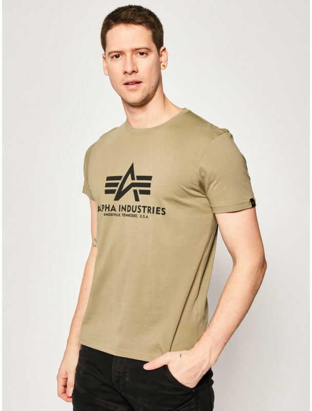 Alpha Industries T-Shirt Basic 100501 Zielony Regular Fit