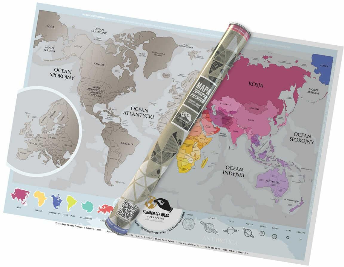 Mapa Zdrapka Premium