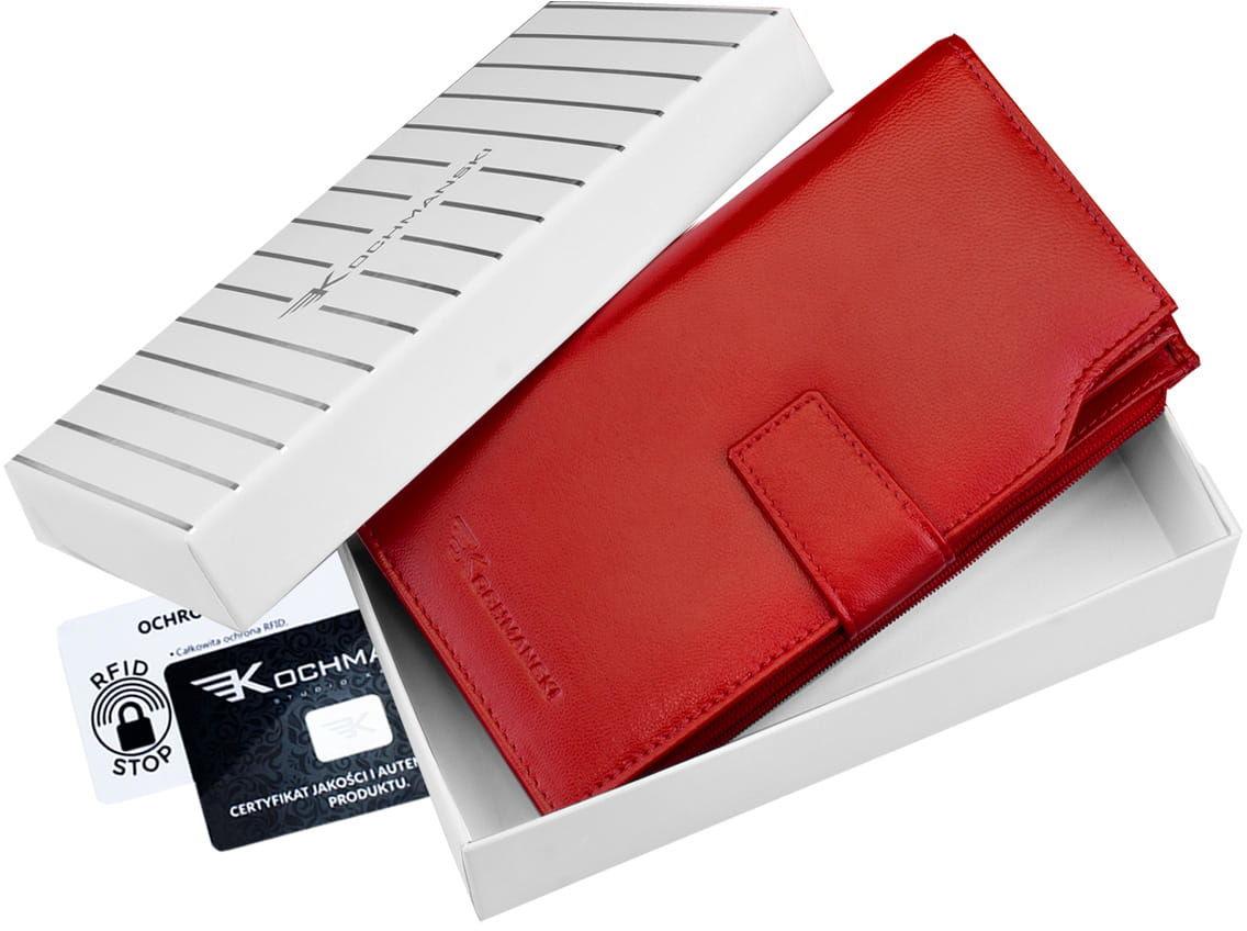 KOCHMANSKI portfel damski skórzany XXL 4307