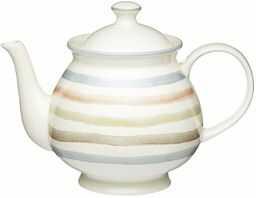 KitchenCraft Classic Collection 6 filiżanek ceramiczny czajniczek w stylu vintage, 1,4 l (2,5 pkt)  Wielokolorowy/Kremowy