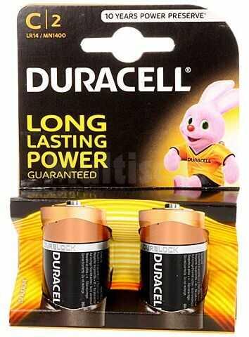 Bateria alkaliczna 1,5V DURACELL C Basic 2szt.