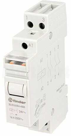 Przekaźnik instalacyjny FINDER bistabilny DPST-NO 24VAC Montaż DIN