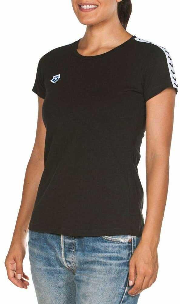 arena Damska koszulka Arena Icons Team T-Shirt Czarny  biały  czarny. XS