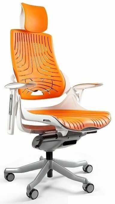 Fotel biurowy WAU biały/elastomer tpe12 mango