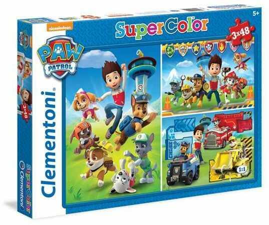 Puzzle 3x48 Super kolor Psi Patrol 25209 - Clementoni