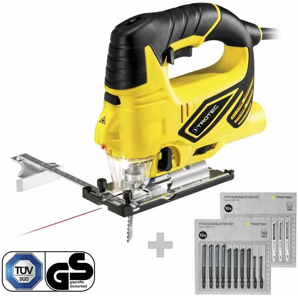 Wyrzynarka PJSS 12-230V + Zestaw brzeszczotów do metalu + Zestaw brzeszczotów do drewna