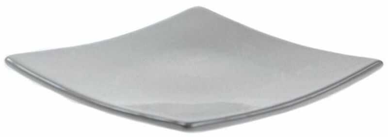 Świecznik ceramiczny KWADRAT 13 x 13 cm szary