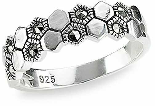 Staviori pierścionek. markazyty. srebro 0,925. szerokość obrączki ok. 3 - 6 mm.