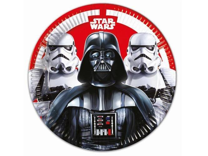 Talerzyki urodzinowe Star Wars Final Battle - 23 cm - 8 szt.