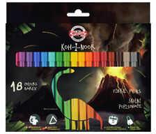 KIN flamastry 7710/2AH 18 kol w kartoniku Dino