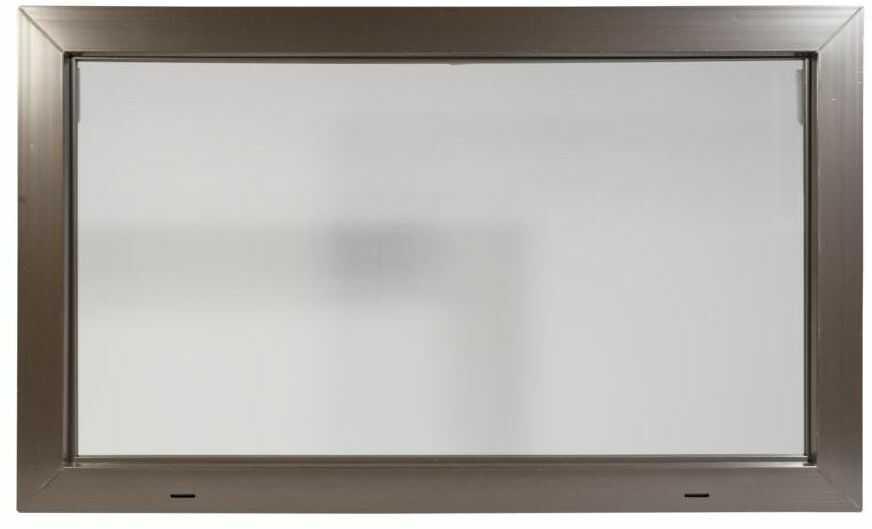 Okno gospodarcze KIPP 2000 Brązowe 1000 x 600 mm ACO