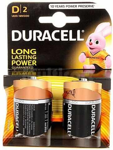 Bateria alkaliczna 1,5V DURACELL D Basic 2szt.