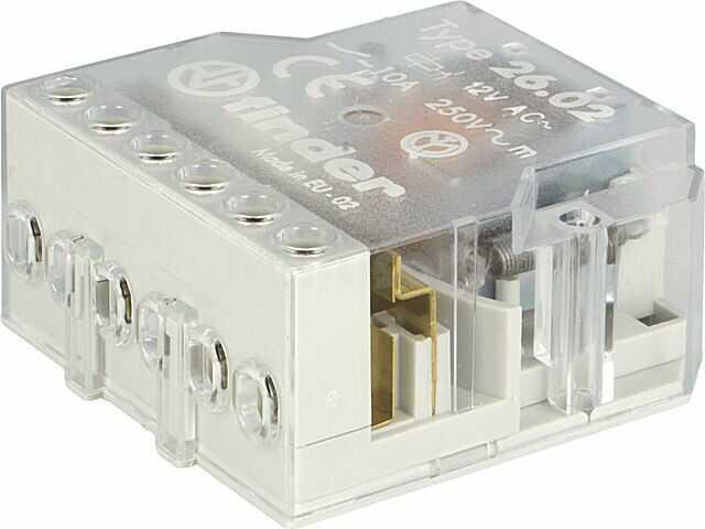 Przekaźnik instalacyjny FINDER bistabilny DPST-NO Ucewki:12VAC 10A